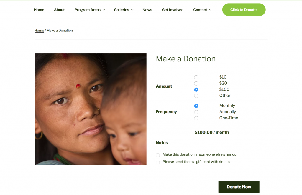 World Neighbours Online Donations
